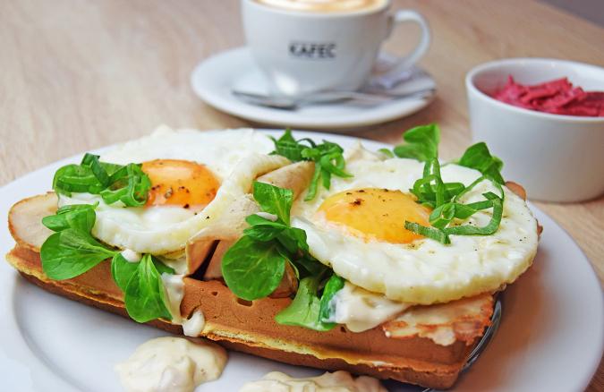 Tasty egg sandwiches in Kafec in Pilsen