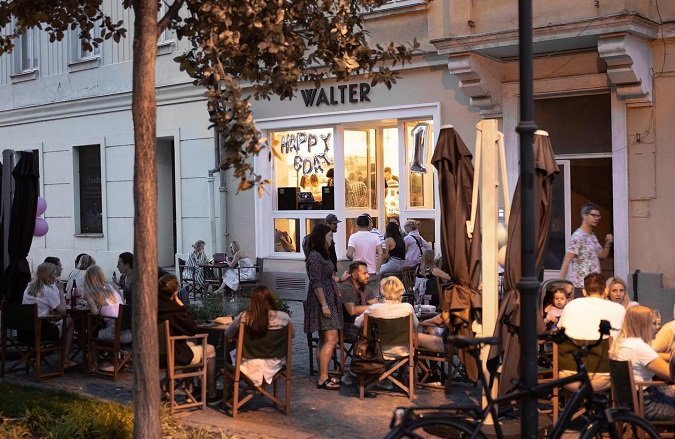 In Walter there is always a nice atmosphere by a cup of coffee or glass of gin tonic