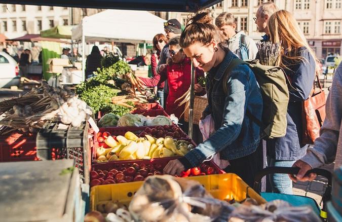 Saturday Farmers´ market in Pilsen