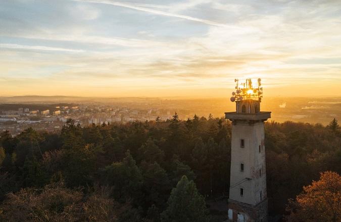 Chlum watchtower in Pilsen