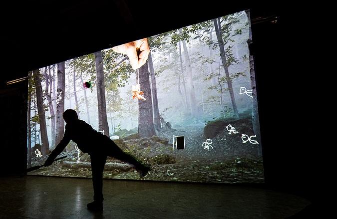 Tajuplný les - BLIK BLIK Mysterious forest exhibition in DEPO2015